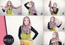 Cara Memakai Jilbab Pashmina Style Modern