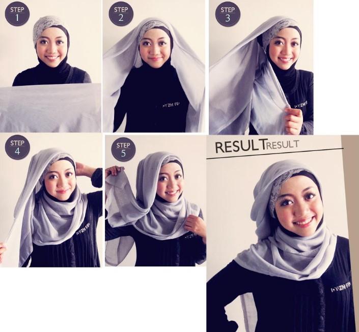 Cara Memakai Jilbab Segitiga Modis