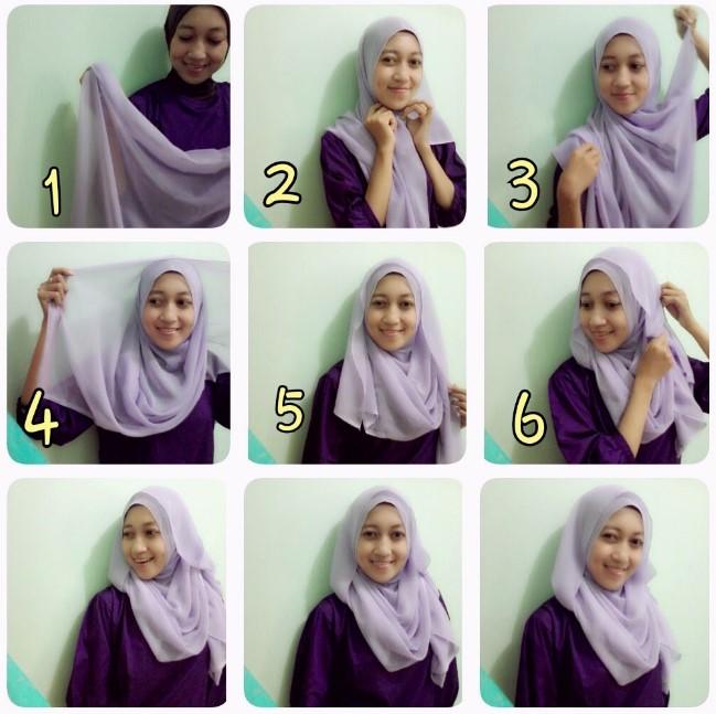 Cara Memakai Jilbab Segitiga Mudah