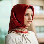 Kreasi jilbab modern untuk wajah kotak