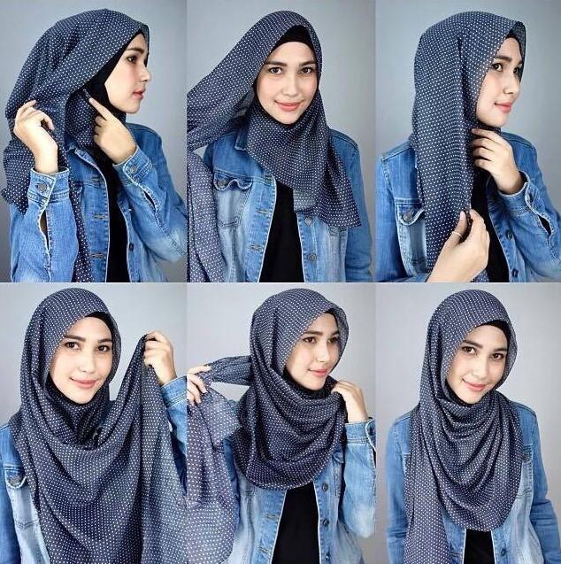 Tutorial Jilbab pashmina style kuliah atau kampus