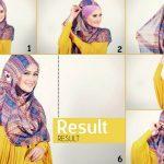 Tutorial Jilbab pashmina style pesta