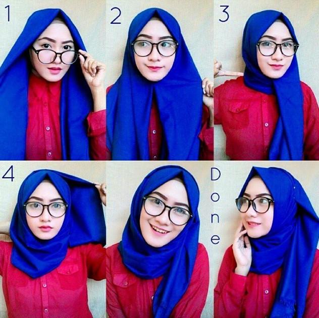 Tutorial jilbab pashmina style formal atau kantor