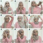 Kreasi Membuat Jilbab Segi Empat Modis