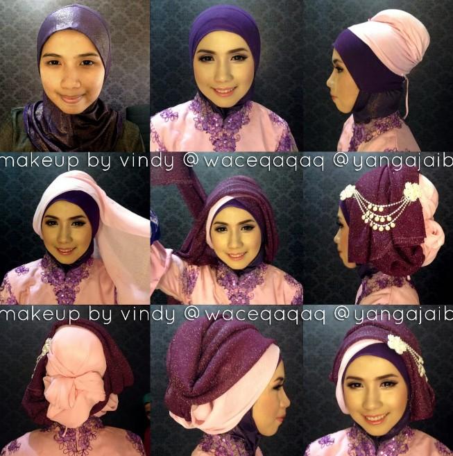Tutorial hijab kebaya simpel untuk pernikahan
